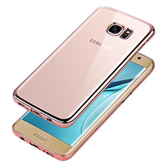 Coque Ultra Fine TPU Souple Transparente T06 pour Samsung Galaxy S7 Edge G935F Or Rose
