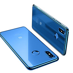 Coque Ultra Fine TPU Souple Transparente T06 pour Xiaomi Mi 8 Bleu