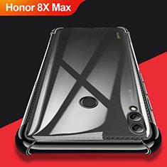 Coque Ultra Fine TPU Souple Transparente T08 pour Huawei Honor 8X Max Noir