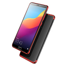 Coque Ultra Fine TPU Souple Transparente T08 pour Huawei Nova 2S Rouge