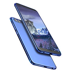 Coque Ultra Fine TPU Souple Transparente T09 pour Huawei Honor V10 Bleu