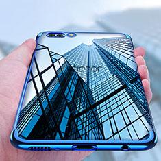 Coque Ultra Fine TPU Souple Transparente T10 pour Huawei Honor V10 Bleu