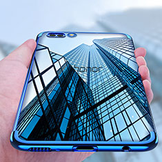 Coque Ultra Fine TPU Souple Transparente T10 pour Huawei Honor View 10 Bleu