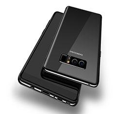 Coque Ultra Fine TPU Souple Transparente T10 pour Samsung Galaxy Note 8 Duos N950F Noir
