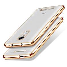 Coque Ultra Fine TPU Souple Transparente T10 pour Xiaomi Redmi Note 3 Or