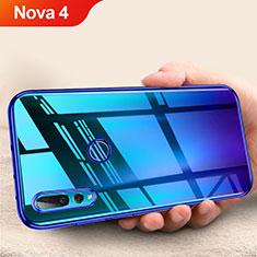 Coque Ultra Fine TPU Souple Transparente T11 pour Huawei Nova 4 Bleu