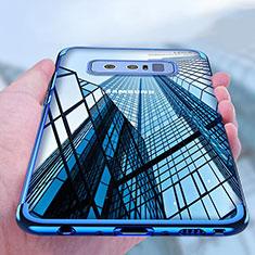 Coque Ultra Fine TPU Souple Transparente T11 pour Samsung Galaxy Note 8 Duos N950F Bleu