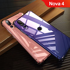 Coque Ultra Fine TPU Souple Transparente T12 pour Huawei Nova 4 Rouge