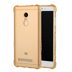 Coque Ultra Fine TPU Souple Transparente T12 pour Xiaomi Redmi Note 3 MediaTek Or