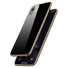 Coque Ultra Fine TPU Souple Transparente T15 pour Apple iPhone XR Or