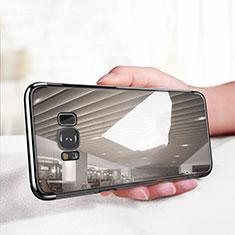 Coque Ultra Fine TPU Souple Transparente T18 pour Samsung Galaxy S8 Plus Noir