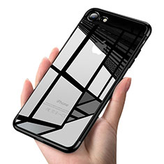 Coque Ultra Fine TPU Souple Transparente T19 pour Apple iPhone 7 Noir