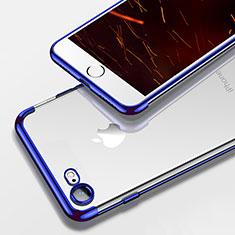 Coque Ultra Fine TPU Souple Transparente T19 pour Apple iPhone 8 Bleu