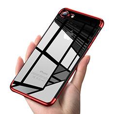 Coque Ultra Fine TPU Souple Transparente T19 pour Apple iPhone 8 Rouge