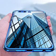 Coque Ultra Fine TPU Souple Transparente U03 pour Huawei P10 Plus Bleu