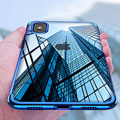 Coque Ultra Fine TPU Souple Transparente V07 pour Apple iPhone X Bleu