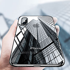 Coque Ultra Fine TPU Souple Transparente V12 pour Apple iPhone X Noir