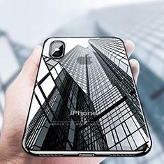 Coque Ultra Fine TPU Souple Transparente V12 pour Apple iPhone Xs Noir