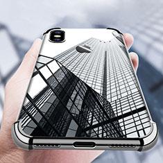 Coque Ultra Fine TPU Souple Transparente V14 pour Apple iPhone Xs Noir