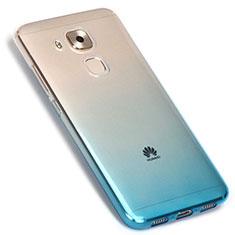 Coque Ultra Fine Transparente Souple Degrade G01 pour Huawei G9 Plus Bleu