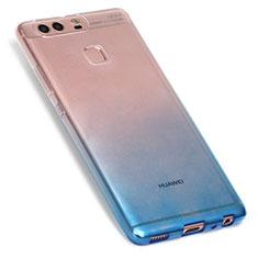 Coque Ultra Fine Transparente Souple Degrade G01 pour Huawei P9 Bleu