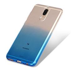 Coque Ultra Fine Transparente Souple Degrade G01 pour Huawei Rhone Bleu