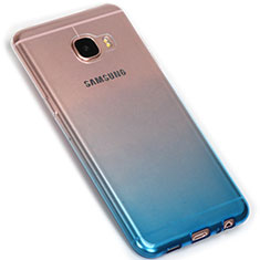 Coque Ultra Fine Transparente Souple Degrade G01 pour Samsung Galaxy C7 SM-C7000 Bleu