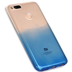 Coque Ultra Fine Transparente Souple Degrade G01 pour Xiaomi Mi 5X Bleu