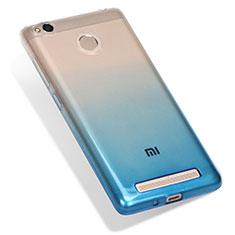 Coque Ultra Fine Transparente Souple Degrade G01 pour Xiaomi Redmi 3 Pro Bleu