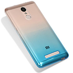 Coque Ultra Fine Transparente Souple Degrade G01 pour Xiaomi Redmi Note 3 MediaTek Bleu