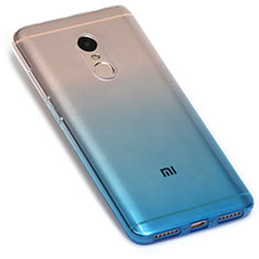 Coque Ultra Fine Transparente Souple Degrade G01 pour Xiaomi Redmi Note 4X High Edition Bleu