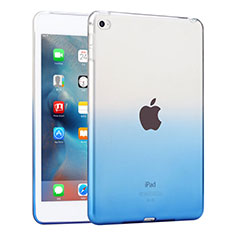 Coque Ultra Fine Transparente Souple Degrade pour Apple iPad Mini 4 Bleu