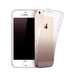 Coque Ultra Fine Transparente Souple Degrade pour Apple iPhone 5 Gris