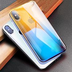 Coque Ultra Fine Transparente Souple Degrade pour Apple iPhone Xs Bleu
