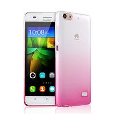 Coque Ultra Fine Transparente Souple Degrade pour Huawei G Play Mini Rose