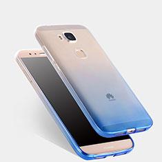 Coque Ultra Fine Transparente Souple Degrade pour Huawei G7 Plus Bleu