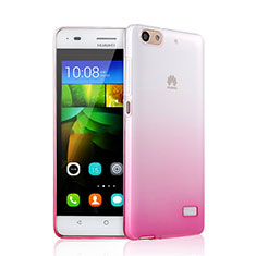 Coque Ultra Fine Transparente Souple Degrade pour Huawei Honor 4C Rose