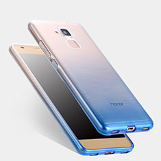 Coque Ultra Fine Transparente Souple Degrade pour Huawei Honor 5C Bleu
