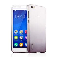 Coque Ultra Fine Transparente Souple Degrade pour Huawei Honor 6 Gris