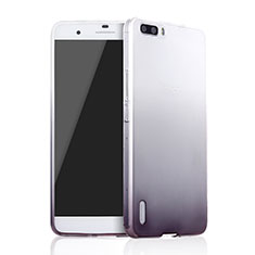 Coque Ultra Fine Transparente Souple Degrade pour Huawei Honor 6 Plus Gris