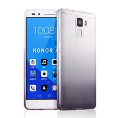 Coque Ultra Fine Transparente Souple Degrade pour Huawei Honor 7 Gris