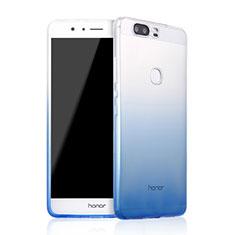 Coque Ultra Fine Transparente Souple Degrade pour Huawei Honor V8 Bleu