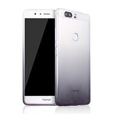 Coque Ultra Fine Transparente Souple Degrade pour Huawei Honor V8 Gris