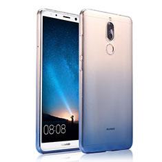 Coque Ultra Fine Transparente Souple Degrade pour Huawei Maimang 6 Bleu
