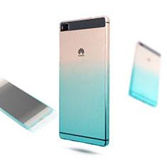 Coque Ultra Fine Transparente Souple Degrade pour Huawei P8 Bleu