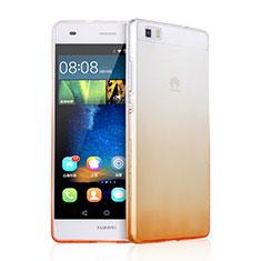 Coque Ultra Fine Transparente Souple Degrade pour Huawei P8 Lite Orange