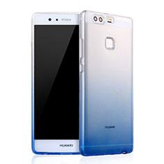 Coque Ultra Fine Transparente Souple Degrade pour Huawei P9 Plus Bleu