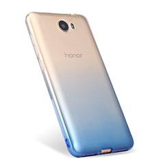 Coque Ultra Fine Transparente Souple Degrade pour Huawei Y5 II Y5 2 Bleu