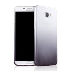 Coque Ultra Fine Transparente Souple Degrade pour Samsung Galaxy A9 Pro (2016) SM-A9100 Gris