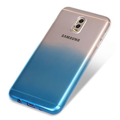 Coque Ultra Fine Transparente Souple Degrade pour Samsung Galaxy C7 (2017) Bleu